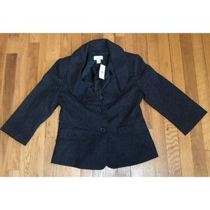 Ann Taylor Loft Women's Black Business Blazer 6